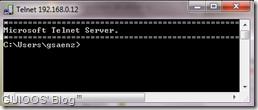 Conectado exitosamente con el daemon de telnet