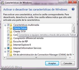 Instalar telnet en Windows 7 y/o vista