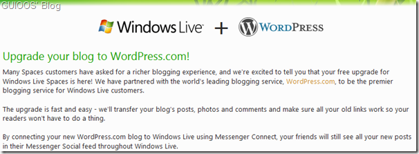 How to migrate from Windows Live Spaces to WordPress.com