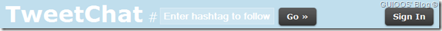 TweetChat --Ingresa el #hashtag