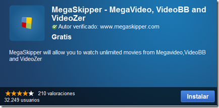 Mega Skipper for megavideo